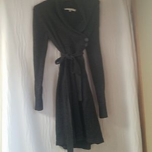 EVAN-PICONE SWEATER DRESS SIZE LARGE GRAY